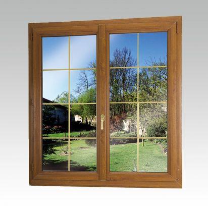 Fenêtre pvc plaxé chêne doré